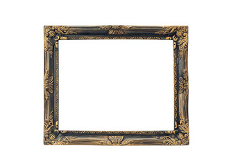 gold frame isolated on the white background with clipping path