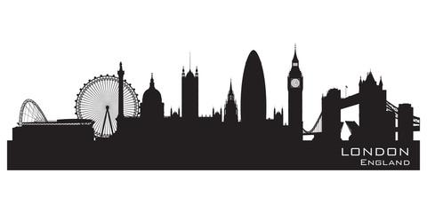 London, England skyline. Detailed vector silhouette