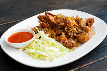 Fried crab (Thai food)