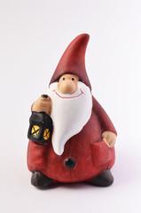 Babbo Natale con lanterna in ceramica