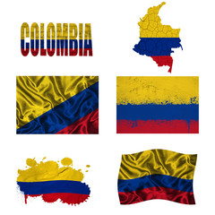 Colombian flag collage