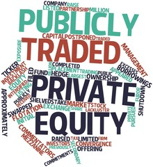 Word cloud for Publicly traded private equity