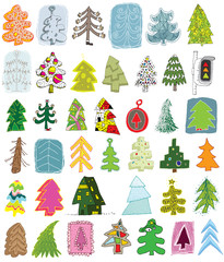 Christmas Trees Collection ... set of 40 trees