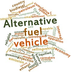 Word cloud for Alternative fuel vehicle