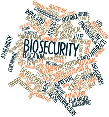 Word cloud for Biosecurity