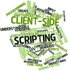 Word cloud for Client-side scripting