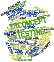 Word cloud for Concept testing
