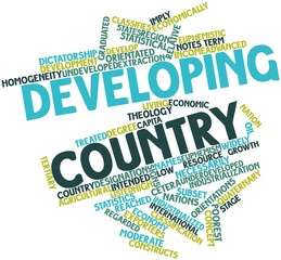 Word cloud for Developing country