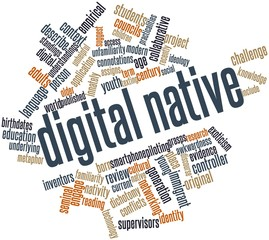 Word cloud for Digital native