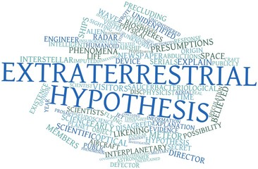 Word cloud for Extraterrestrial hypothesis