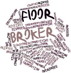 Word cloud for Floor broker