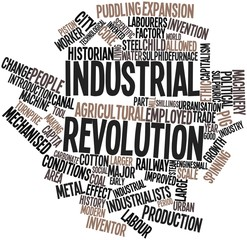 Word cloud for Industrial Revolution