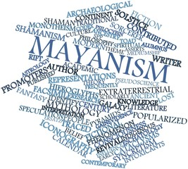 Word cloud for Mayanism