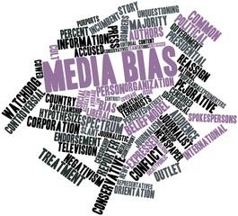 Word cloud for Media bias