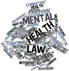 Word cloud for Mental health law