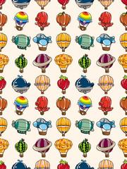 seamless hot air balloon pattern