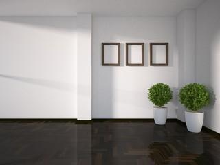 empty modern interior design