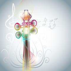 violin backgorund in line art style
