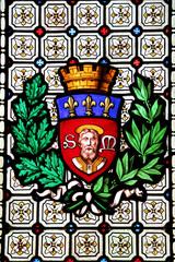 Vitrail des armoiries de Limoges.