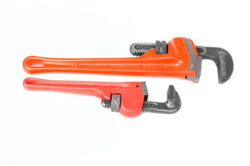 Two red monkey wrenches