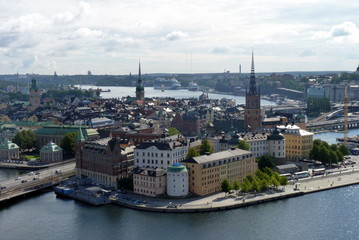 Keuken foto achterwand Stockholm Stoccolma, isola di Gamla Stan vista dal Municipio