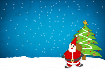 Santa Claus Paper Craft Background
