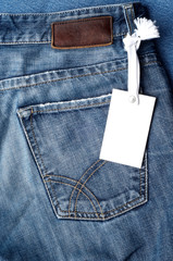 Blue jeans  blank tag