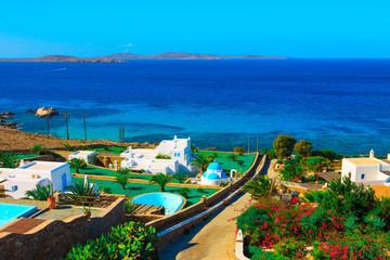 Sea View in Mykonos Island Cyclades Greece