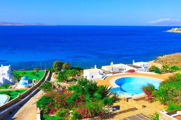 Sea view In mykonos Island Greece Cyclades