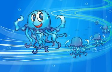 Poster Submarine Jellyfish