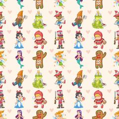 seamless story people pattern