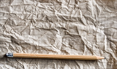Bleistift auf altem Papier