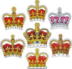 British heraldic crowns