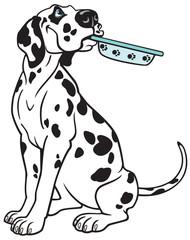 Keuken foto achterwand Honden cartoon dalmatian
