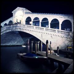 Rialto Bridge by night - Venice