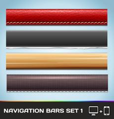 Vector Navigation Bars For Web And Mobile Set1