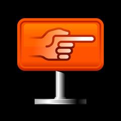 direction hand symbol