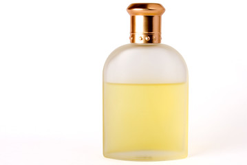 Bottle of Perfume/ Aftershave on a white background
