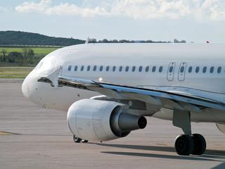 Keuken foto achterwand Luchthaven Jet airliner