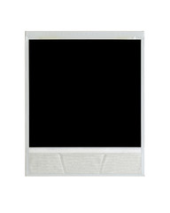 Back of instant film isolated on white