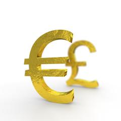 Euro, Pfund, pound, sterling