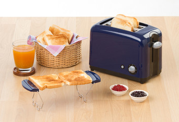 Bread toaster in the kitchen