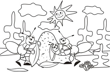 ant-coloring book