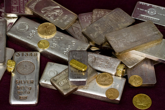 Gold and Silver Bullion - Bars, Ingots, Coins and Gold Rings