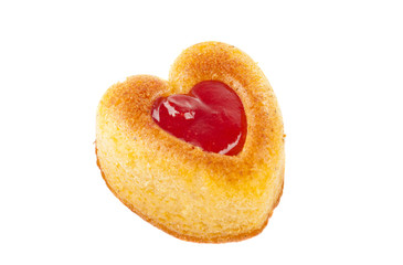 Muffins heart isolated