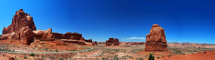 Photo sur Aluminium Brique Panorama Arches National Park, USA