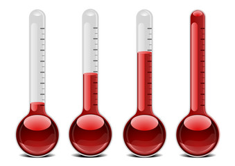 red thermometers
