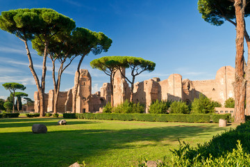 Fototapete - Baths of Caracalla in Rome, Italy