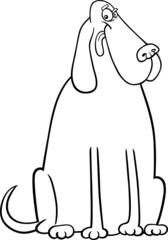 big dog cartoon for coloring book