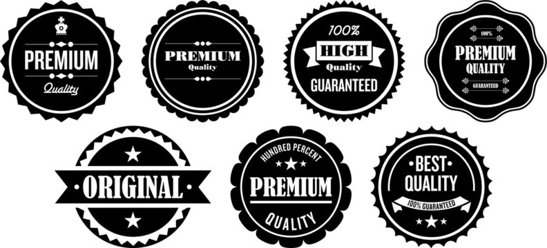 Vintage Premium Quality Labels and Stamps